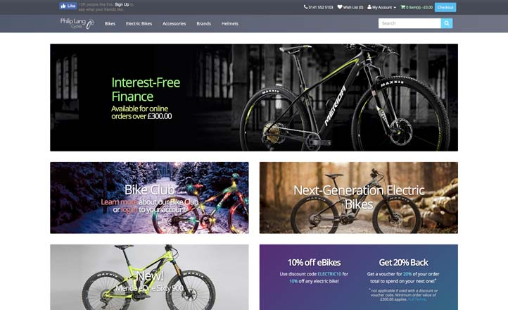Philip Lang Cycles Website Preview